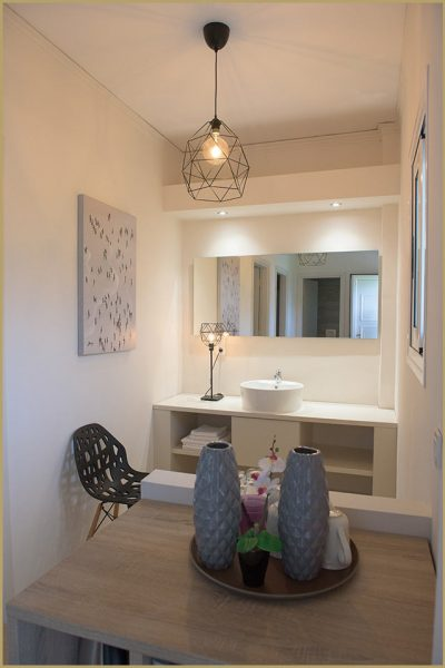 Family Apartment for Four - Wash Basin and Mirror - Terezas Hotel